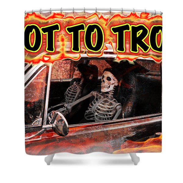 Hell Drive Shower Curtain