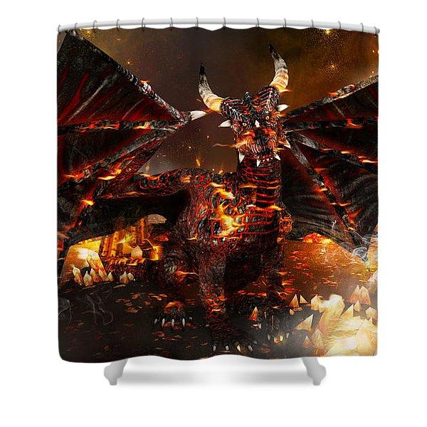 Hellborn Dragon Shower Curtain