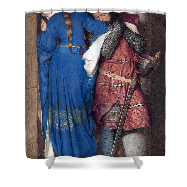 Hellelil And Hildebrand Or The Meeting On The Turret Stairs Shower Curtain