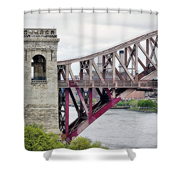 Hellgate In Grey Shower Curtain