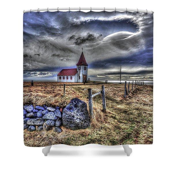 Hellnar Church Shower Curtain