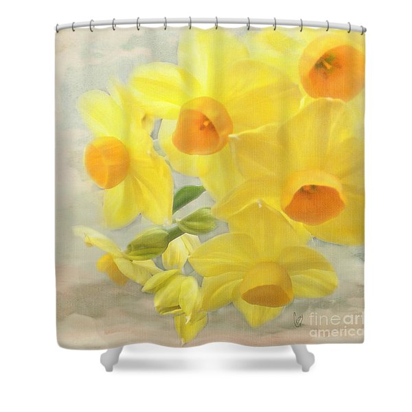 Hello February Shower Curtain