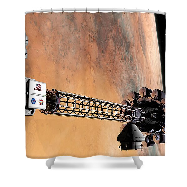 Hello, Huston From Hermes, Do You Read Me Shower Curtain