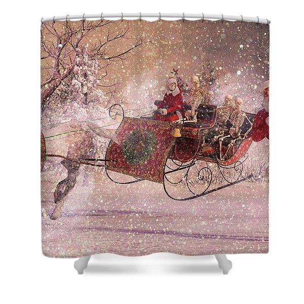 Hello Santa Shower Curtain