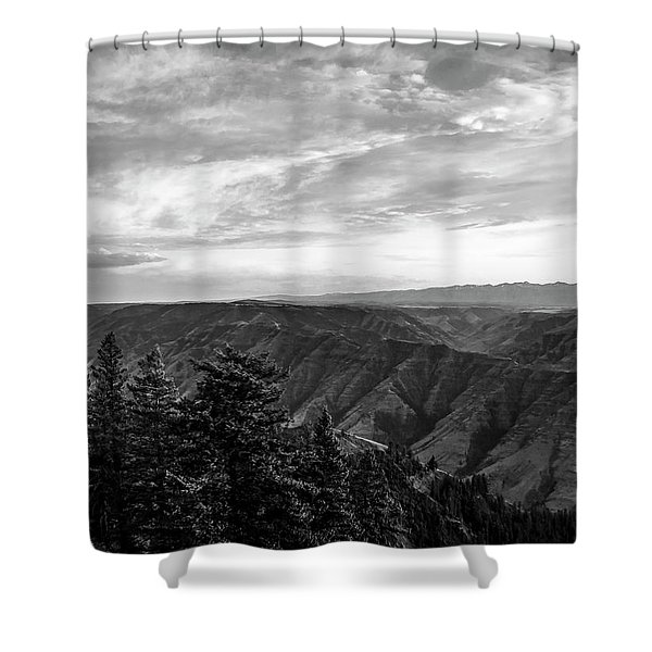 Hells Canyon Drama Shower Curtain