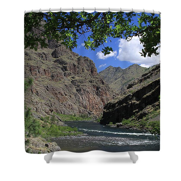 Hells Canyon Snake River Shower Curtain