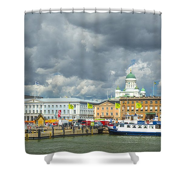 Helsinki, South Harbor Shower Curtain