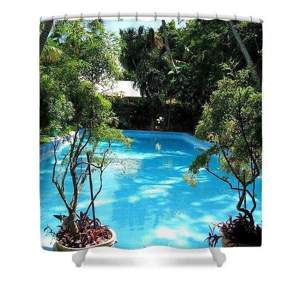 Hemingway Pool Shower Curtain