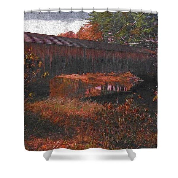 Hemlock Covered Bridge Shower Curtain