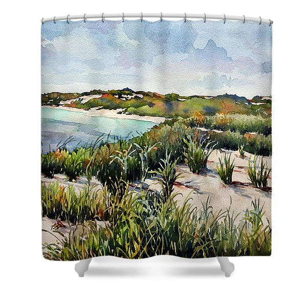Henlopen Dunes Shower Curtain
