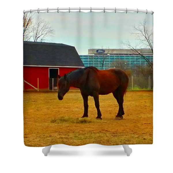 Henry Ford Museum Barn Shower Curtain