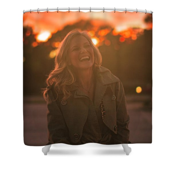 Her Laugh Shower Curtain