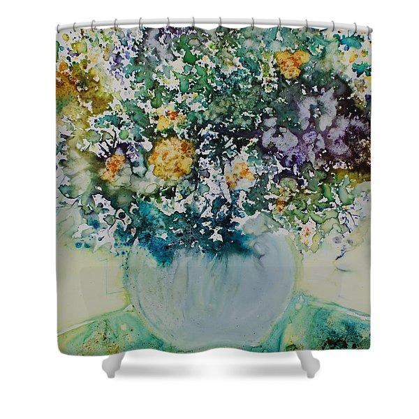 Herbal Bouquet Shower Curtain