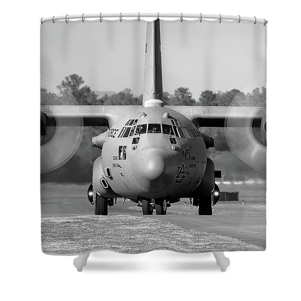 Hercules In Black And White Shower Curtain