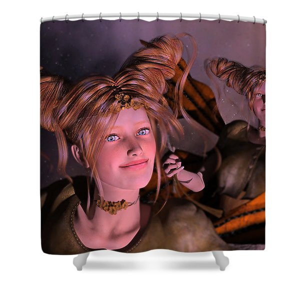 Here Comes Sunshine For Jerry  Shower Curtain