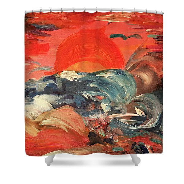 Here Comes The Weekend Aka Indian Rocks Beach Sunset Shower Curtain
