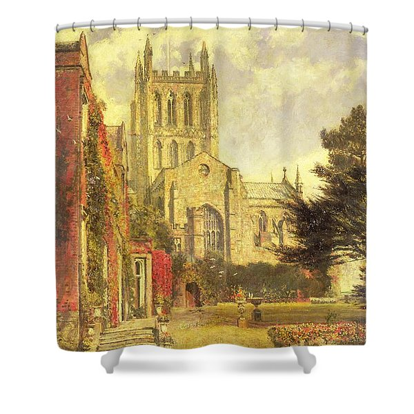 Hereford Cathedral Shower Curtain