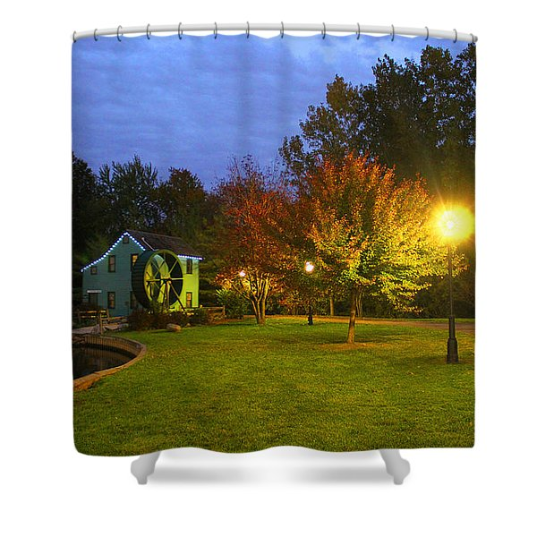 Heritage Park At Night Shower Curtain