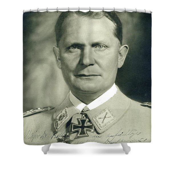 Herman Goering Autographed Photo 1945 Color Added 2016 Shower Curtain