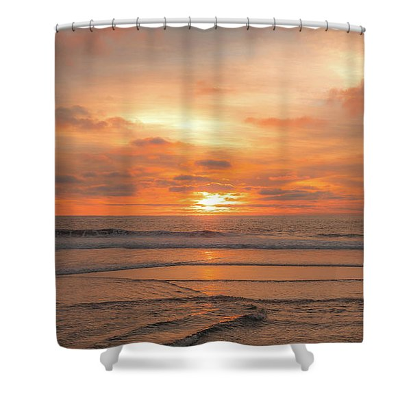 Shower Curtain featuring the photograph Hermosa Sunset Classic3 by Michael Hope