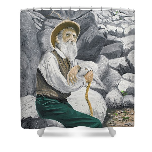 Shower Curtain featuring the painting Hero Of The Land by Kevin Daly