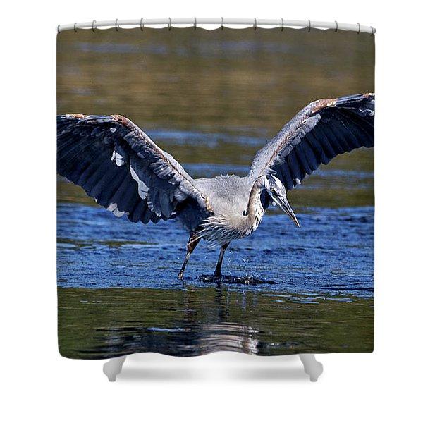 Heron Full Spread Shower Curtain