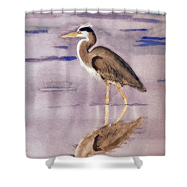 Heron No. 2 Shower Curtain