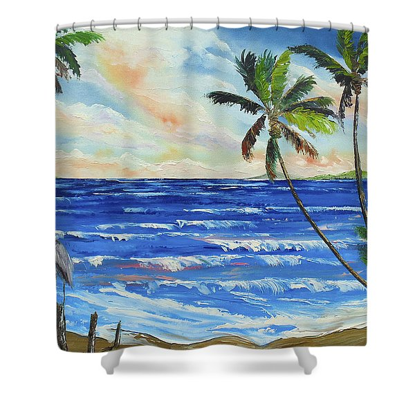 Heron On The Beach Shower Curtain
