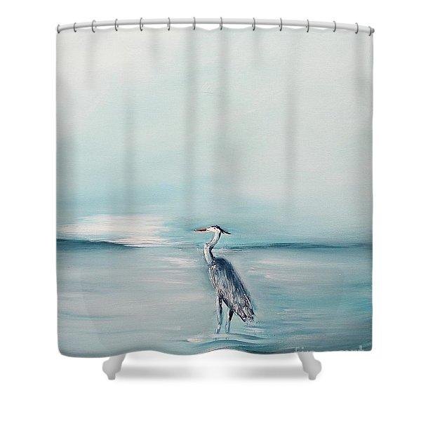Heron Silence Shower Curtain