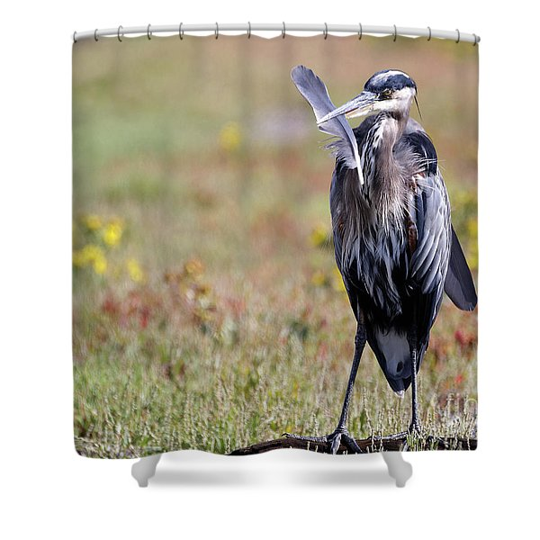 Herons Own Shower Curtain