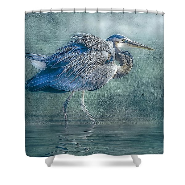 Heron's Pool Shower Curtain