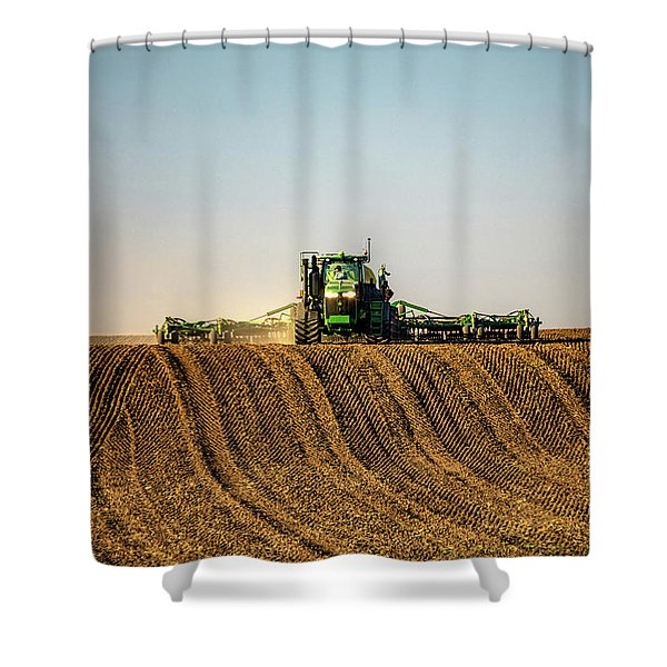 Herringbone Sowing Shower Curtain