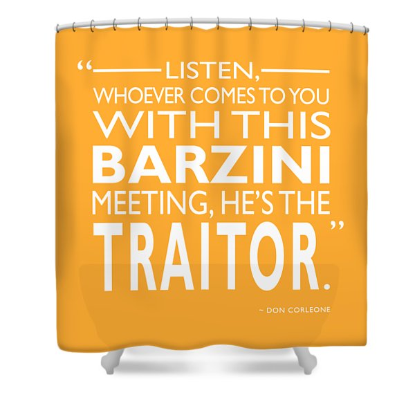 Hes The Traitor Shower Curtain