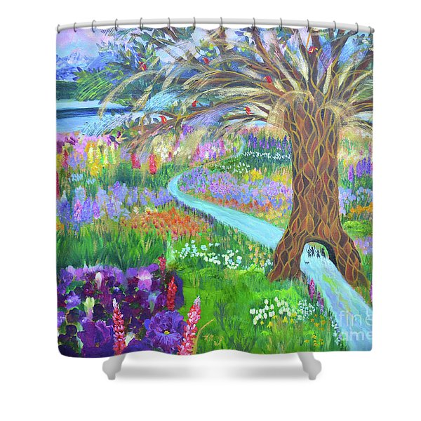 Hesed His Steadfast Love Shower Curtain