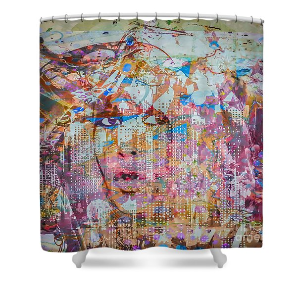 Shower Curtain featuring the digital art Hey Good Lookin by Eleni Mac Synodinos