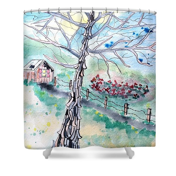 Hickory Shower Curtain
