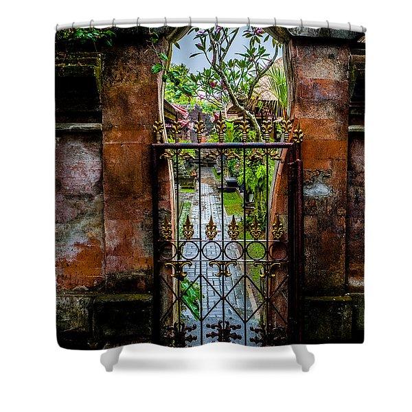 Bali Gate Shower Curtain