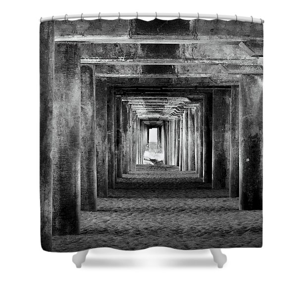Hidden Illusions 2 Bw Shower Curtain