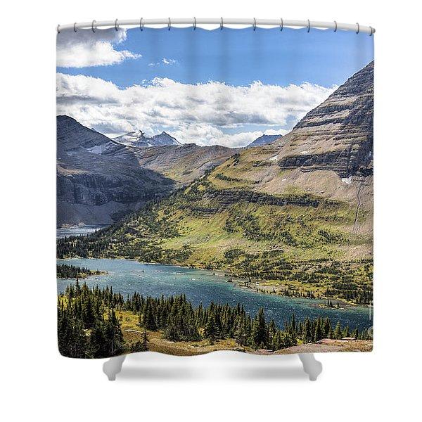 Hidden Lake Overlook Shower Curtain