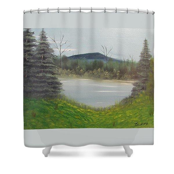 Hidden Pond  Shower Curtain