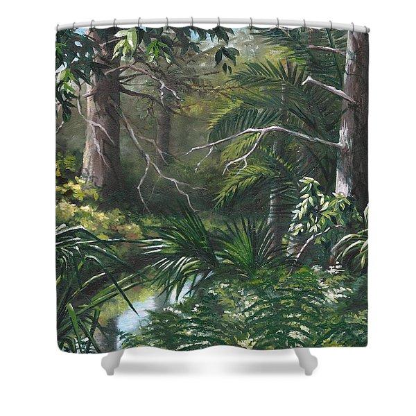 Hidden Stream At Lowry Park Shower Curtain
