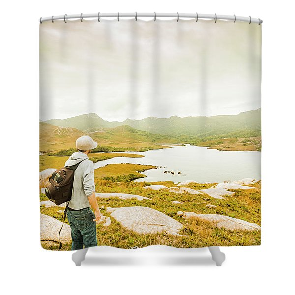 Hidden Tasmania Trails Shower Curtain