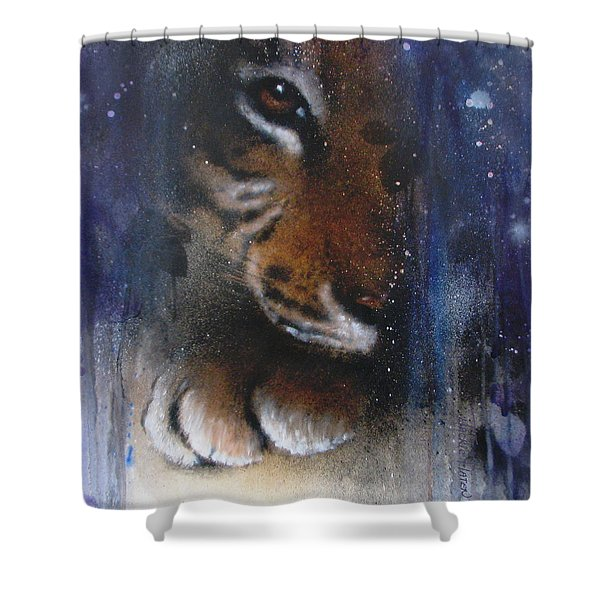 Hidden Tiger Shower Curtain