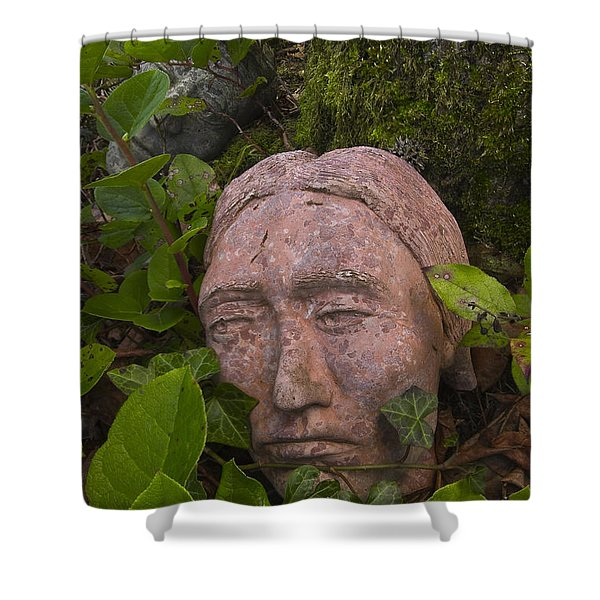 Hiding Signed Shower Curtain