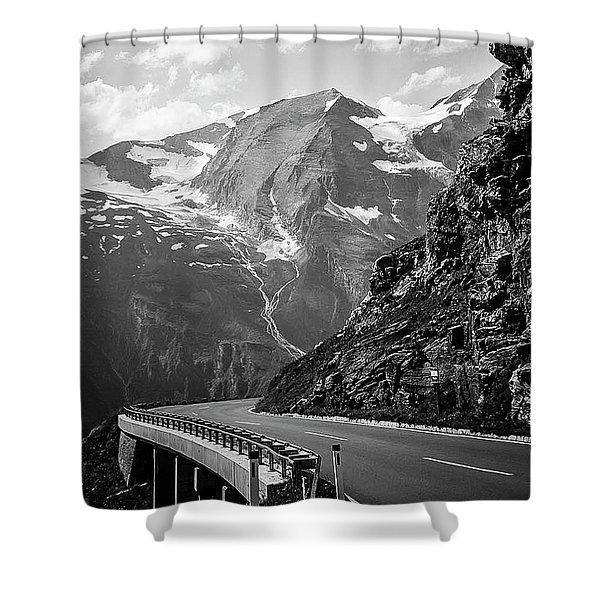 Shower Curtain featuring the photograph High Alpine Region Austria by Gerlinde Keating - Galleria GK Keating Associates Inc
