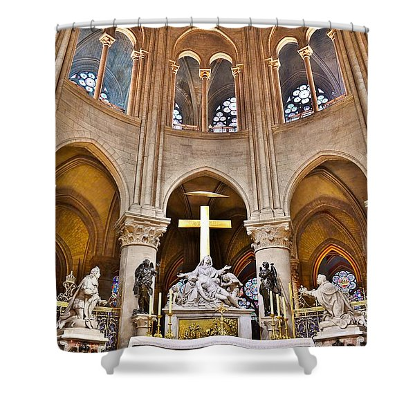 High Alter Notre Dame Cathedral Paris France Shower Curtain