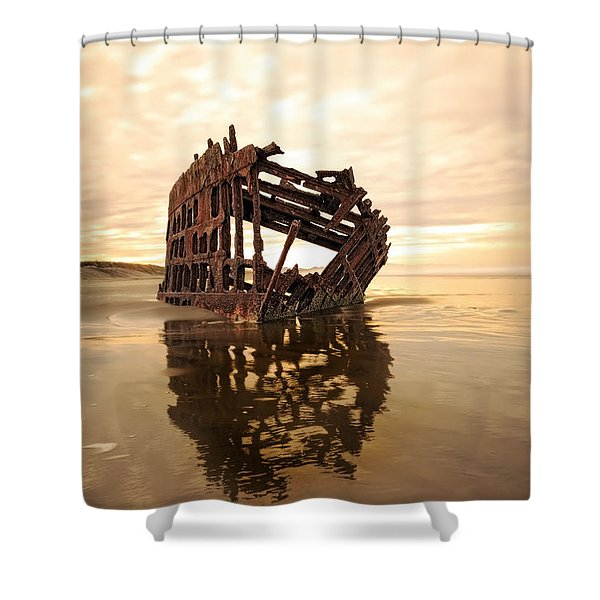 High And Dry, The Peter Iredale Shower Curtain