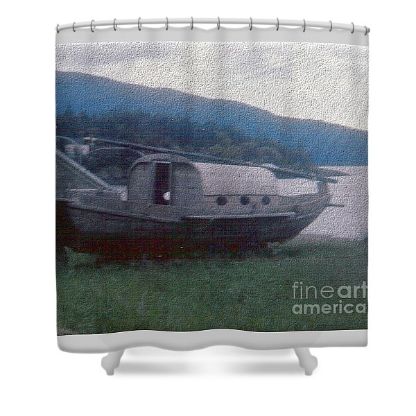 Shower Curtain featuring the photograph High And Dry On Orcas Island - Digitally Enhanced by Charles Robinson