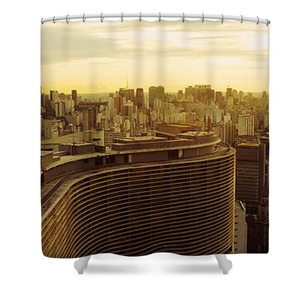 High Angle View Of A City, Copan Shower Curtain