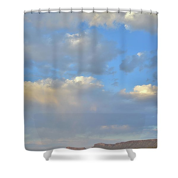 High Clouds Over Caineville Wash Shower Curtain